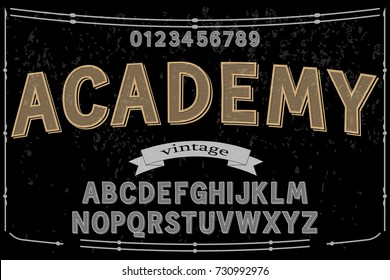 font script typeface vector named academy
