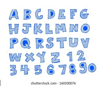Font Sketch Hand drawing vector letters