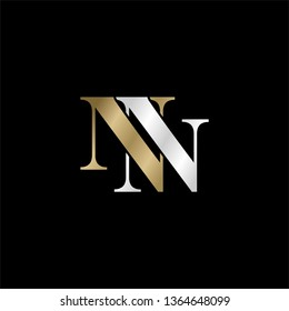 """font symbol """" NN """" minimalis and simple template vector"""