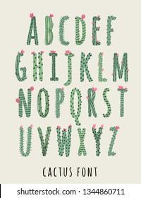 font type cactus