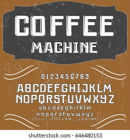 font typeface vector handcrafted coffee machine