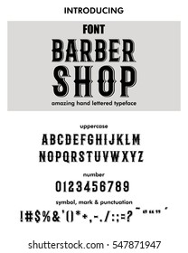 Font.Alphabet.Script.Typeface.Label.Modern Barber Shop typeface. For labels and different type designs