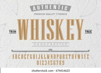 Font.Alphabet.Script.Typeface.Label.Whiskey typeface.For labels and different type designs
