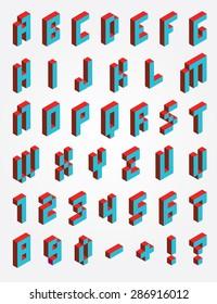 Fonts Pixel isometric