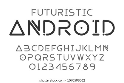 Fonts technology and modern.Decorative alphabet and numbers vector.Typography design for headlines, labels, posters, logos, cover, etc.