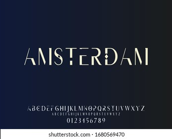 Font.Typeface.alphabet..Script.Shadow Effect.Handcrafted handwritten vector label design old style.vintage Hand Drawn.Retro Typography.Vector Illustration.amsterdam - Shutterstock ID 1680569470