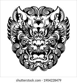 Foo Dog vector illustration. EPS format