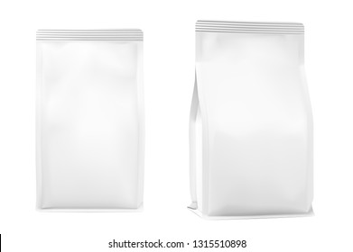 Food bag isolated on white background. Vector illustration. Can be use for template your design, presentation, promo, ad. Taking your 2D designs into 3D. EPS10.