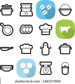 Food best vector icon set