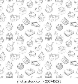 food, cake, pattern