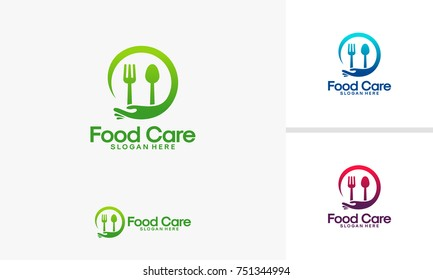 Food Care logo template, Restaurant care logo designs vector
