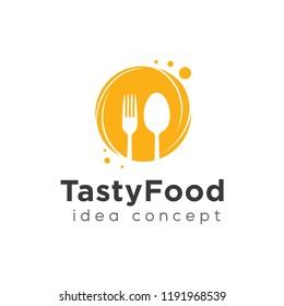 Food Concept Logo Design Template