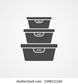 Food container vector icon sign symbol