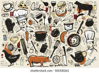 Food Corner Sketch
