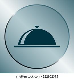Food cover icon - stock vector illustration design