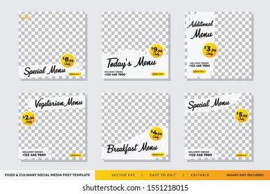 Food & culinary Social Media Post template Premium Vector