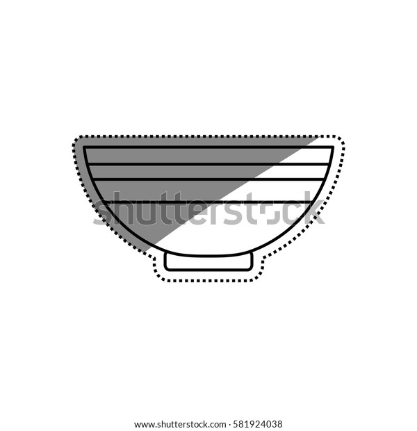 Food deep plate icon vector illustration graphic design