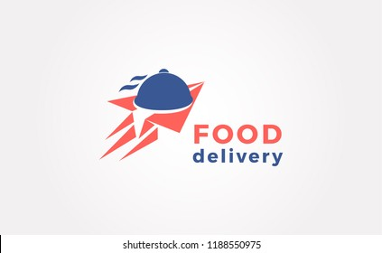 Food Delivery Catering Fast Food Logo Vector Icon