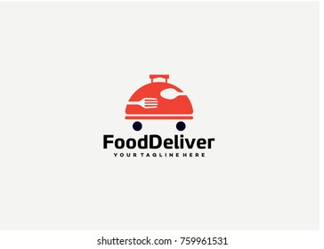 Food Delivery Logo Template Design. Creative Vector Emblem for Icon or Design Concept