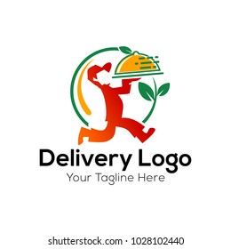 Food delivery logo Vector