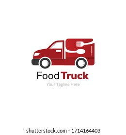 Food Delivery Truck Logo Design