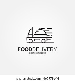 Food Delivery Truck Logo Template .  Fast Delivery Truck