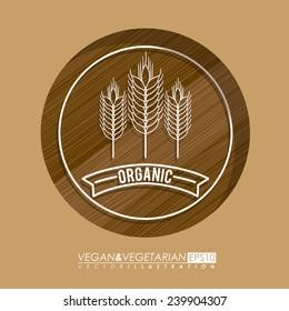 Food design over beige background,vector illustration.