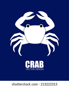 Food design over blue background, vector illustration