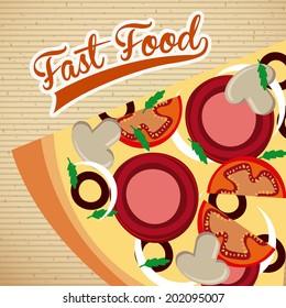 food design over pattern background vector illustration