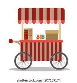 Food design over white background, vector illustration