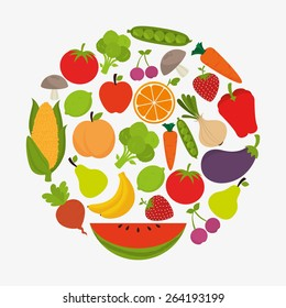 Food design over white background, vector illustration.