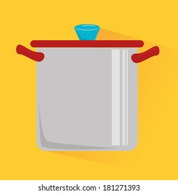 food design over yellow background vector illustration
