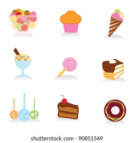 food and desserts icons