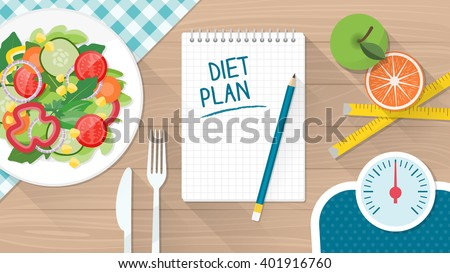 Food Diet Healthy Lifestyle Weight Loss Stock Vector Royalty Free