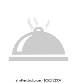 food dome - catering icon, food serving, restaurant vector waiter service - dining cover