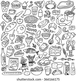 food doodles set