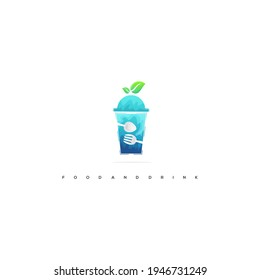 food and drink alamy ilustration logo design vektor