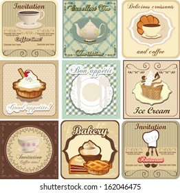 Food and drink card set