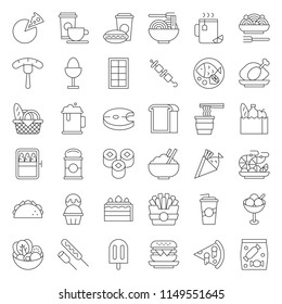 food and drink icon, gastronomy concept thin line design