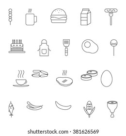 Food and drink icon set.