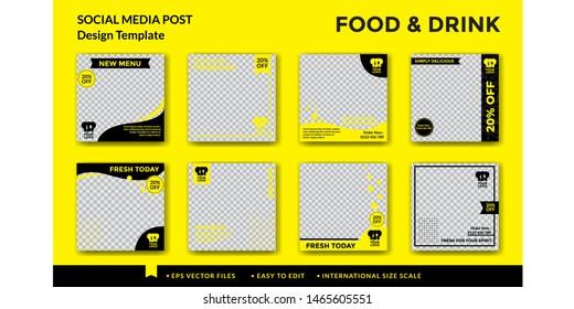 Food and drink social media post design