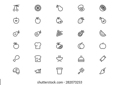 Food and Drinks Line Vector Icons 11