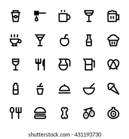 Food and Drinks Vector Icons 1
