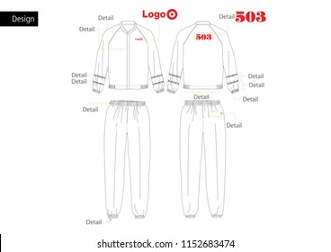 Food factory Jacket&Pants uniform vector