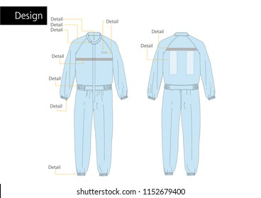 Food factory Jumpsuit uniform vector