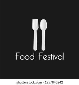 food festival design logo. vector