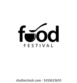 Food festival logo vector template. Design for banner, greeting cards or print.