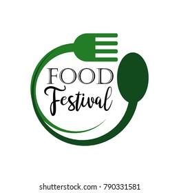 Food Festival Logo Vector Template Design