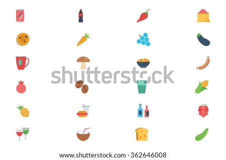 Food Flat Vector Icons