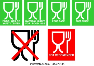 food grade icon set , Food safe icon set , food grade safety tested icons
